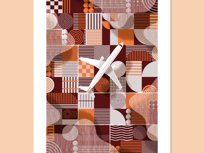 Flyover Country plane airplane sky poster abstract shadow aviation crops farmland midwest clouds flying