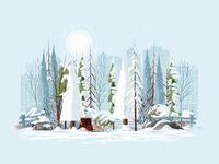 Winter study dribbble 2x