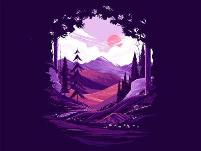 Mountain Landscape Study