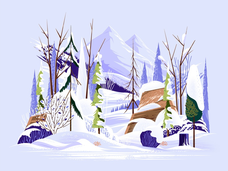 Winter Tree Study outside landscape branch cold snow hills mountain rock wood tree outdoors nature
