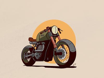 Bike Illustration | 2 procreateapp procreate motorcycle motorbike illustration drawing custom cafe racer biker bike