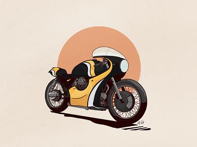 Bike Illustration | 3 procreateapp procreate motorcycle motorbike illustration drawing custom cafe racer biker bike