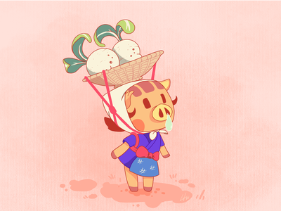Daisy Mae | Character design illustration video game switch texture colors ghibli animal illustration daisy mae animal crossing characterdesign