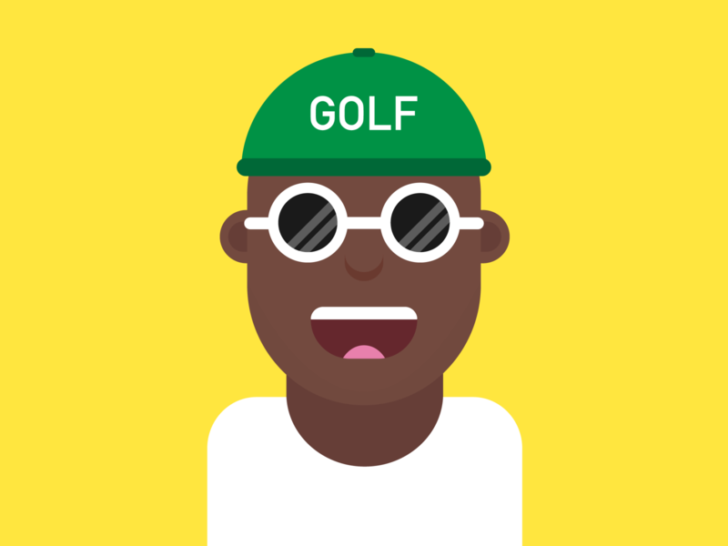 Flat Design Character (Inspired by Tyler, the Creator) flat illustration icon flatdesign character vector minimal illustrator illustration flat design