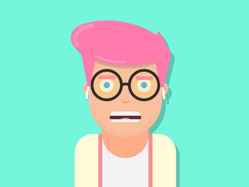 Hipster Boy boy hipster designs flat illustration flat design flatdesign character vector minimal illustrator illustration flat design