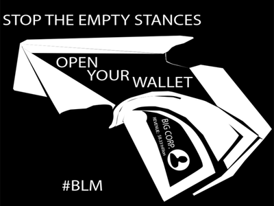 open your wallet #BLM illustration drawing