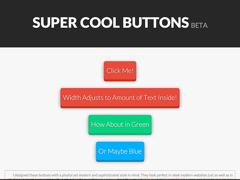 Super Cool Buttons by Daniel Megard | Dribbble | Dribbble