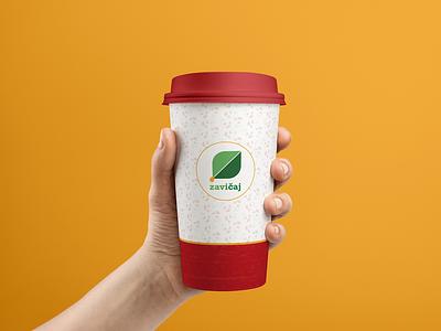 Tea cup tea minimal green eco pastel colors packaging package design logo design branding