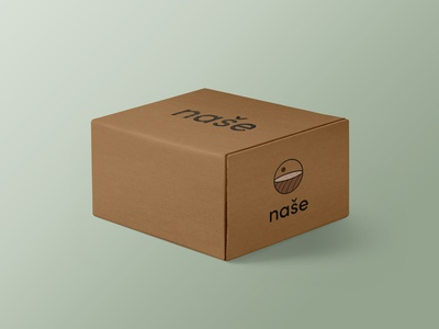 Branding - The Box pastel colors packaging package design minimal eco logo design graphic design logo design branding
