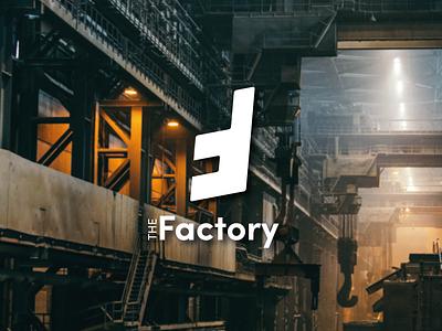 The Factory Logo factory industrial minimal logo design graphic design logo design branding