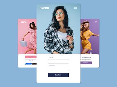 Nama Mobile App - UX/UI shopping uxui mobile app design web design colors app design minimal mobile ui mobile uiux shopping app app mobile app interface ux design ui design design branding ux ui