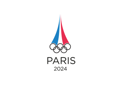 Paris 2024 Olympics logotype logo concept sports logo olympics olympic games minimal logo design graphic design design branding logo