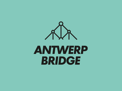 Antwerp Bridge Logo drawbridge port water bridge logo bridges a letter a belgium antwerp architecture bridge minimal logo design graphic design logo design branding