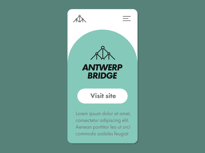 Antwerp Bridge - UX/UI bridge mobile design mobile ux ui design process architecture minimal logo design graphic design logo design branding