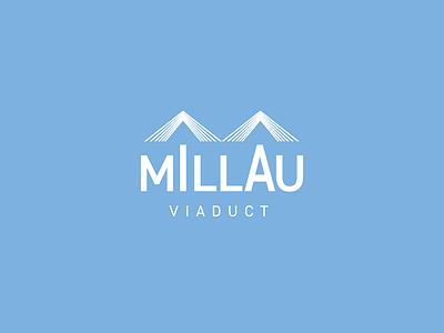 Millau Viaduct Logo sky france viaduct millau bridge design process architecture minimal logo design graphic design logo design branding