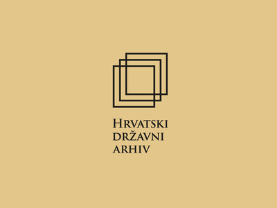 Croatian State Archive sketch square geometric folder paper archive state archive architecture minimal logo design graphic design logo design branding