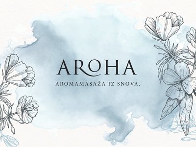 Aroha Logo aroha love aromatherapy wellness spa massage cosmetics flowers pastel colors design process eco minimal logo design graphic design logo design branding