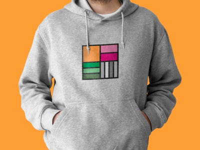 Hoodie - Virovitica Library colors hoodie books library minimal logo design graphic design branding logo design