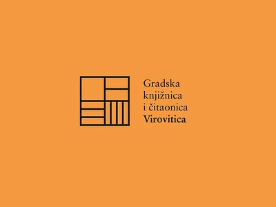 Bookshelf Logo bookshelf library books minimal logo design graphic design branding logo design