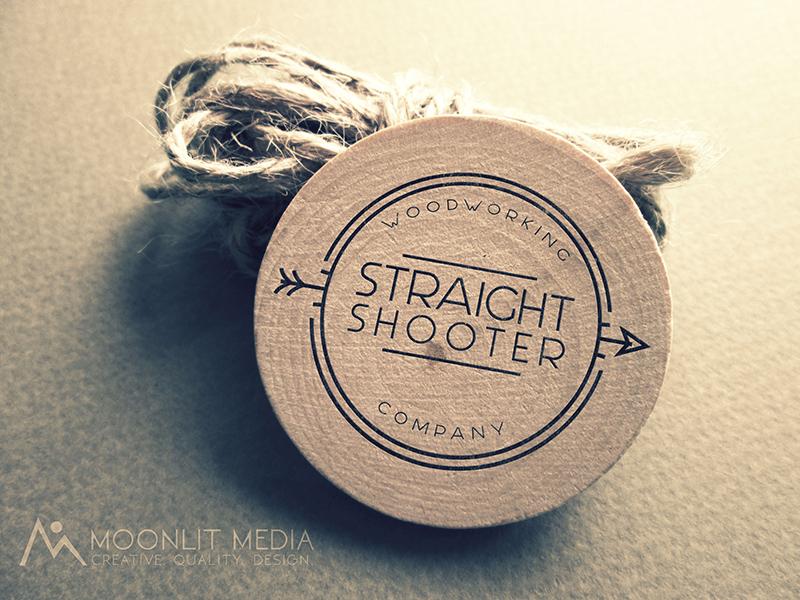 Straight Shooter Woodworking Co. Logo graphic design typography illustration logomark logo design logo