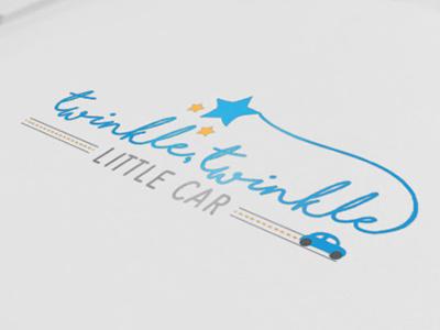 Twinkle, Twinkle Little Car Logo graphic design typography illustration logomark logo design logo