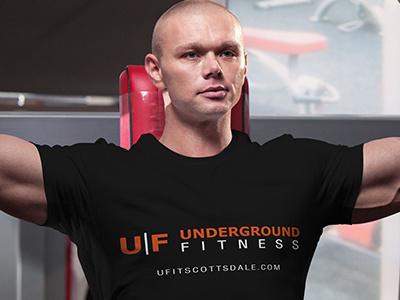 Underground Fitness Logo graphic design typography illustration logomark logo design logo