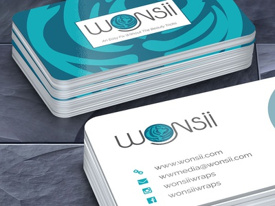 Wonsii Business Cards commercial printer design studio creative agency print design creative brand identity graphics illustrator branding typography logo design business cards