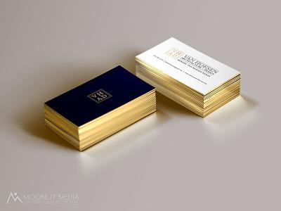 Van Hoesen Architecture + Design Business Cards commercial printer design studio creative agency print design creative brand identity graphics illustrator branding typography logo design business cards