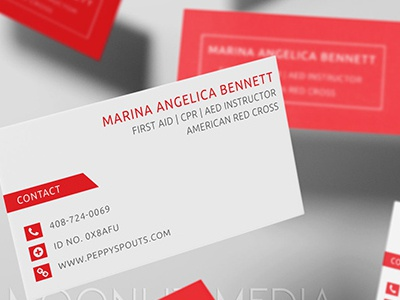 First Aid/CPR Business Cards commercial printer design studio creative agency print design creative brand identity graphics illustrator branding typography logo design business cards