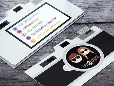 Tiny & Famous Custom Die Cut Business Cards commercial printer design studio creative agency print design creative brand identity graphics illustrator branding typography logo design business cards