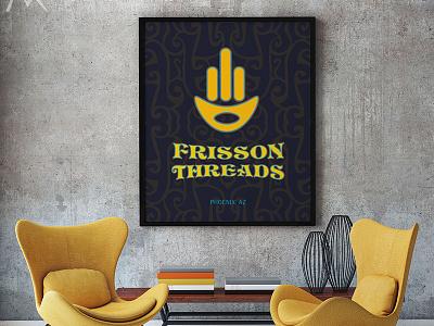 Frisson Threads Custom Canvas Poster commercial printer design studio creative agency print design creative brand identity graphics illustrator branding typography canvas poster