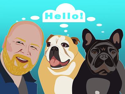 Us dog illustration design