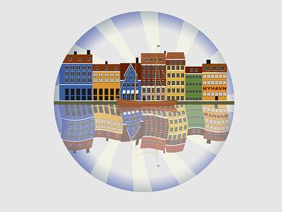 Nyhavn city branding branding illustration design