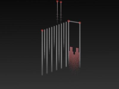 Olivia Star night shadows fog heart poland city branding illustration dark skyscraper olivia star gdansk