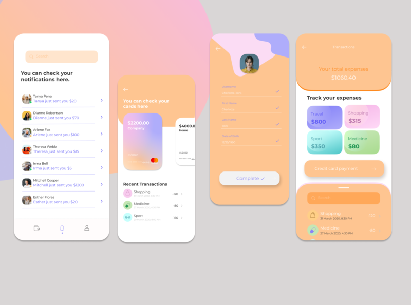 Money Transferring App illustration uiux ui design uidesign ui design