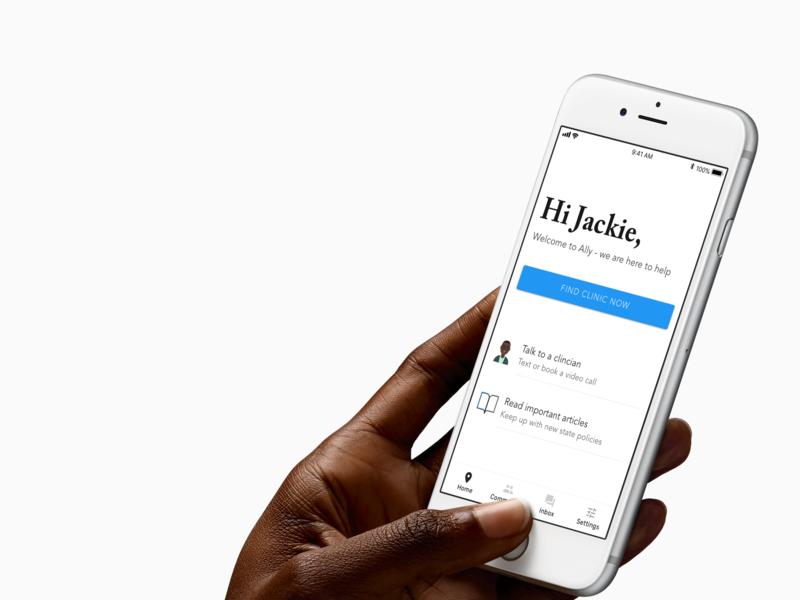 Reproductive Health App Home Screen ui digital health ios health care health app app design ux typography