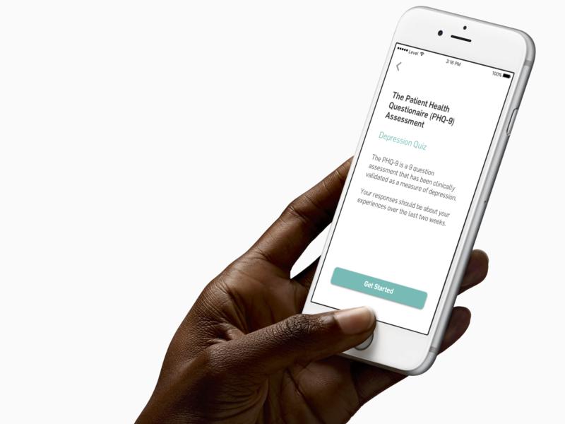 Clinical Assessment Landing Screen health app health care ui typography flama app design digital health