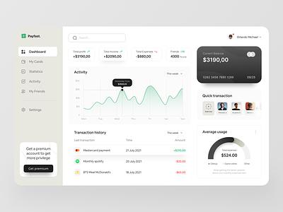 Payfast - Fintech Dashboard Exploration📱 bank app web app overview design dashboard design bank stats interface app financial dashboard finance web design ui ux ios user interface app design financial app fintech dashboard