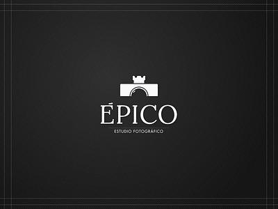 Épico branding branding photography studio photo logo castle camera