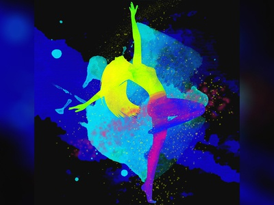 Dancer art  Abstract character design colorful illustration digital painting photoshop