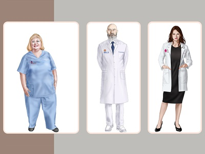 Hospital Staff Illustration portrait drawing portrait illustration character design digital art digital painting illustration