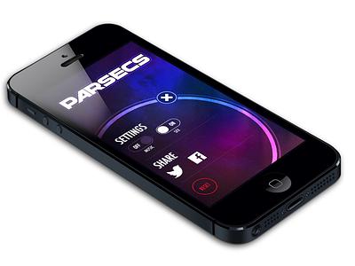Settings Screen settings iphone ios game space parsecs sharing button ui