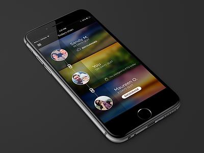 Visual exploration iphone app health wellness photo flat chain link social smoking