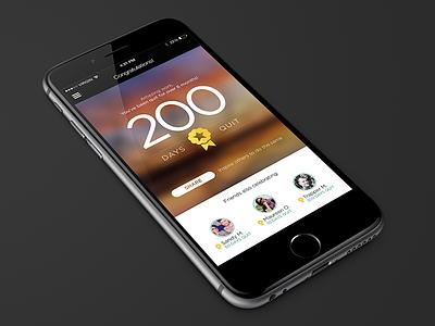 Celebration moment celebrate smoking wellness health wellbeing iphone app flat simple ui