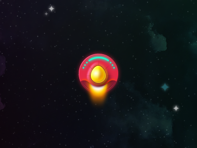 UFO ufo spaceship space outer space game ui ios iphone app stars galaxy
