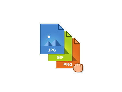 File Types  files icons illustration images drag and drop ui interface