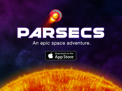 Parsecs is in the App Store! app store parsecs ufo ship planets sun space indie game app