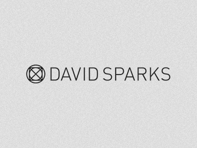 David Sparks Personal Logo and Mark david sparks sans serif geometry black logo