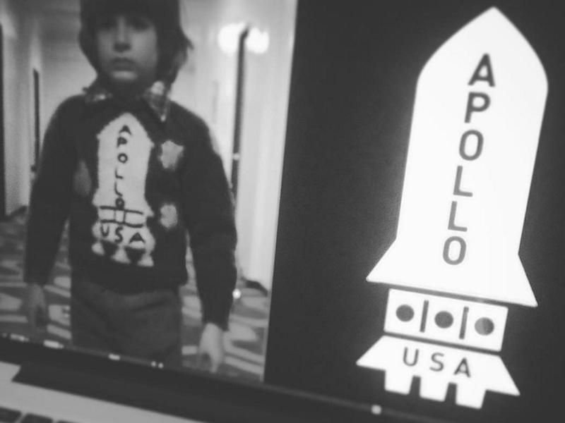 Apollo Danny usa apollo 11 danny rocket illustrator black and white shinning