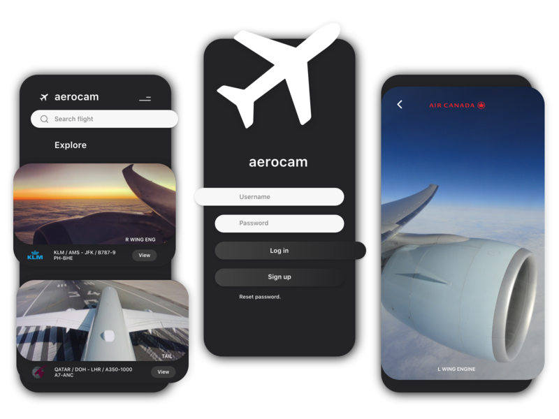 Aerocam™ minimalist ui  ux uxui uidesigns uxdesign typography logo flight flight app airport airplane aviation dark ui clean ui app design app uidesign design ux ui